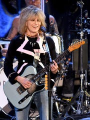Musician Chrissie Hynde of The Pretenders performs