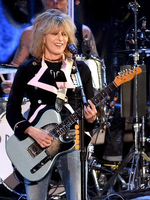 Musician Chrissie Hynde of The Pretenders performs at The Forum on Dec. 18, 2016 in Inglewood, California.