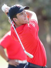 Ray Navis of Palm Desert High School participates in the DVL Boys' Final at the Classic Golf Club in Palm Desert on April 26, 2018.