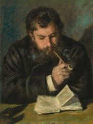 """Auguste Renoir's """"Claude Monet,"""" 1872, oil on canvas,"""