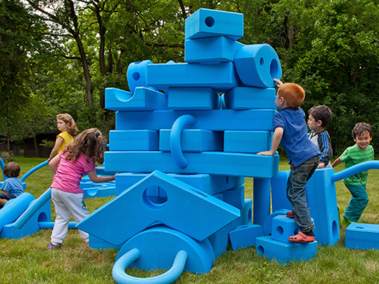 Imagination Playground equipment is designed to encourage