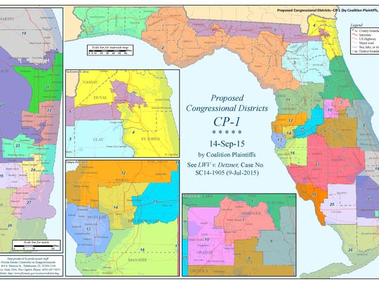 The congressional redistricting map approved by Circuit