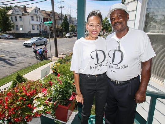 Retired New Brunswick Police Officer Jim Neal and his wife, Debbie Neal, have dedicated a garden at their Joyce Kilmer Avenue home to Dr. Martin Luther King Jr. Photographed on Aug. 25, 2016.