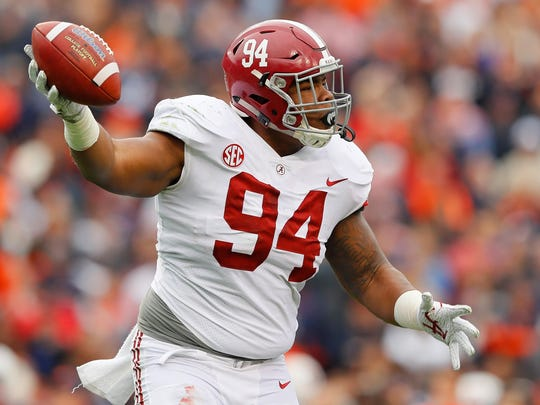 Former Alabama defensive tackle Da'Ron Payne could be an option for the Lions with the No. 20 pick in the NFL Draft.