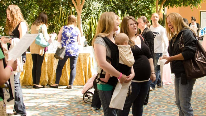 Women connect during a Beyond the Bump event.