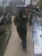 A second photo of the man who police say robbed the