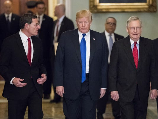 Donald Trump, John Barrasso, Mitch McConnell