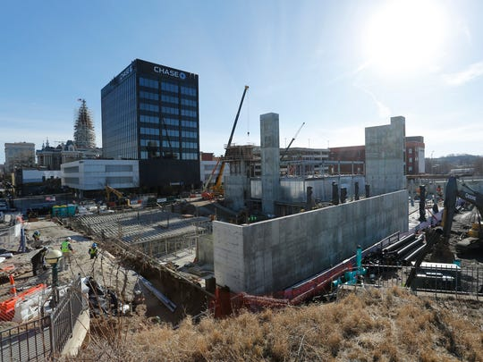 Construction continues on the MARQ mixed-use development