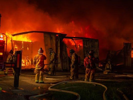 Bridges Golf Course Shed Fire