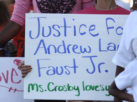 Scenes from a rally Sunday to remember 5-year-old Andrew Faust Jr. at the Quality Life Center in Fort Myers. Andrew was killed in a  2014 shooting.