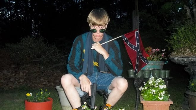 """A photo from the website """"The Last Rhodesian"""" appears to show Dylann Roof."""