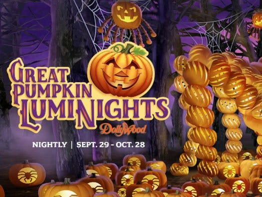 Insiders save over 10% on admission tickets to Harvest Festival & Great Pumpkin LumiNights.