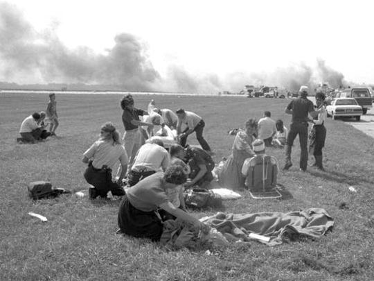 Rescuers from surrounding communities and local authorities had 45 minutes after an engine exploded on United Airlines Flight 232 to get to the Sioux City airport before the plane crash-landed on July 19, 1989.