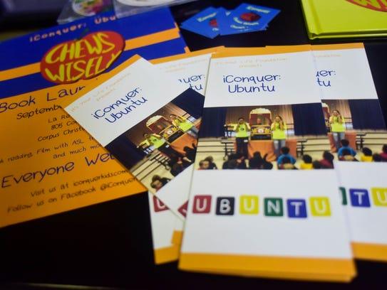 Brochures explaining iConquer's Ubuntu program are