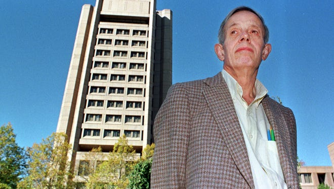 Princeton University professor John Nash poses on the university's campus in Princeton, N.J. Oct. 11, 1994. Nash was named the winner of the Nobel Peace Prize in economics.