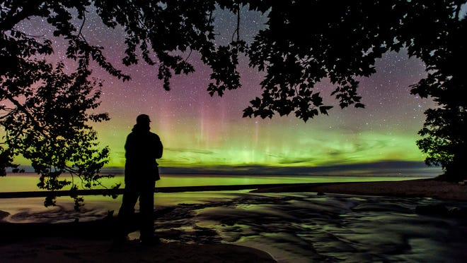 Watching the Northern Lights in solitude is a wondrous experience, just one of many during an unforgettable visit to Pictured Rocks.