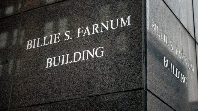The namesake of the structure is carved into the side of the Billie S. Farnum Building in downtown Lansing. The building, located at 125 West Allegan Street, offers amazing views of the Capital, high ceilings and open office space.