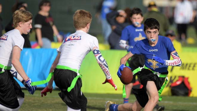 Flag football in Kissimmee, Fla.