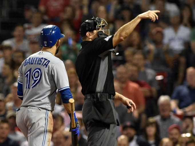 Sept. 25: Home plate umpire Alfonso Marquez ejects
