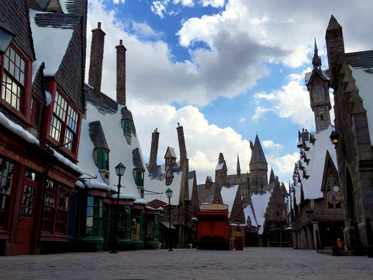 Hogsmeade Village, and the Butterbeer cart.