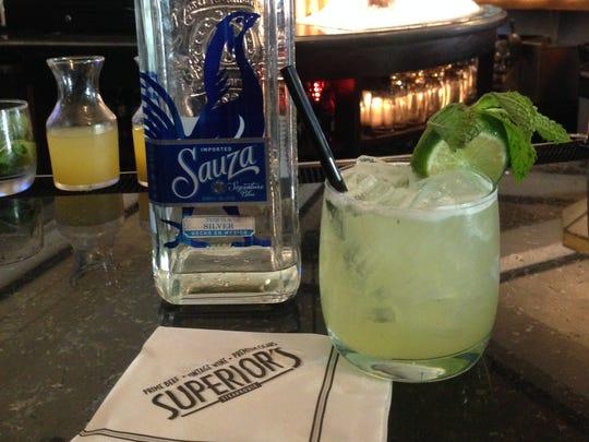 Head bartender Garrett Denmon uses Suaza Blue Tequila