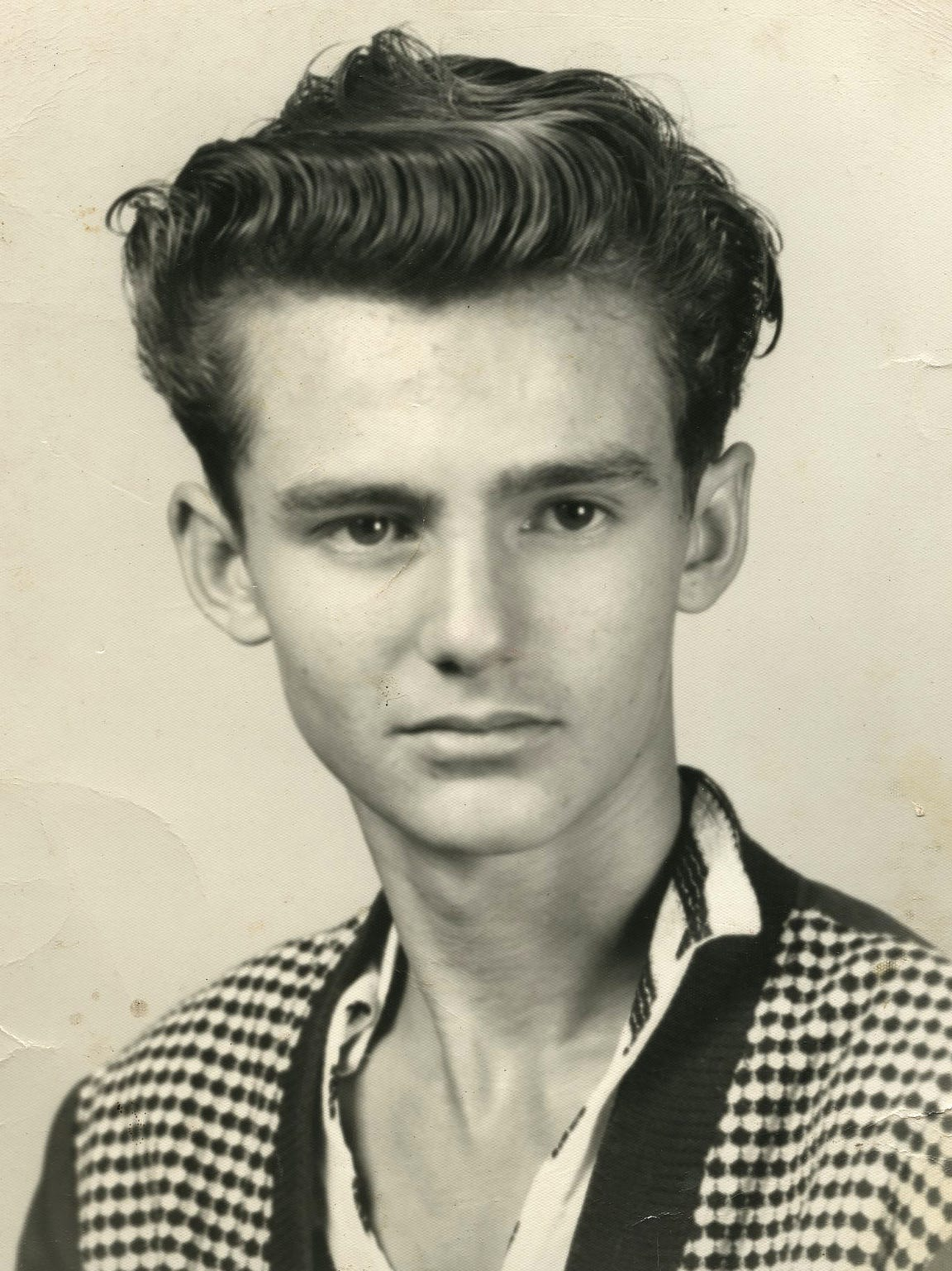 Bob Paillet at age 16. He graduated from Exeter High
