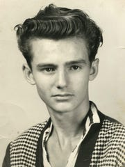 Bob Paillet at age 16. He graduated from Exeter High School in Exeter, Missouri, before enlisting in the U.S. Navy.