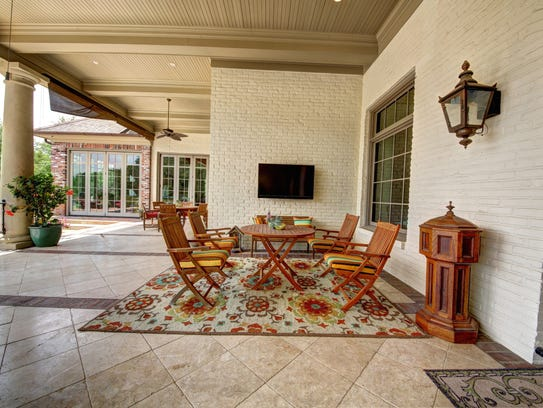 This estate features abundant outdoor space.