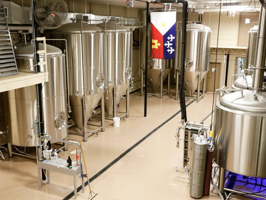 The fermentation area of  at Cajun Brewing Sept. 26,
