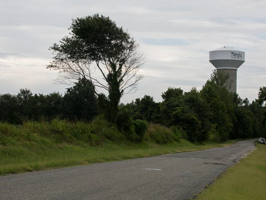 August 17, 2016 - The water tower in Stanton recently