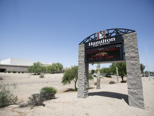 Hamilton High School in Chandler.