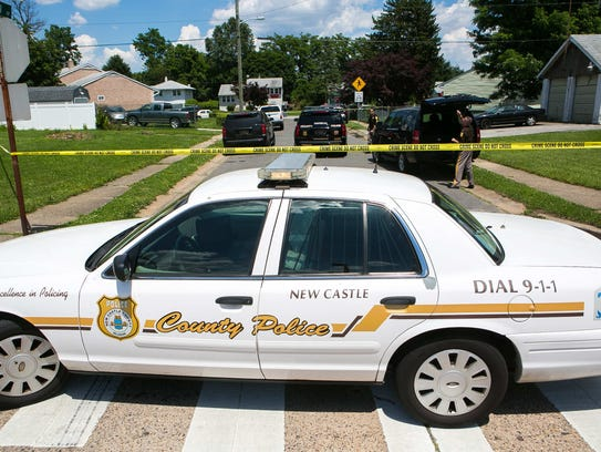 New Castle County police were on the scene of a shooting