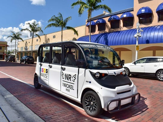 The Nickel Ride, shown here in downtown Fort Myers, expanded to the South Cape hospitality district on Dec. 1. It offers free rides seven days a week.