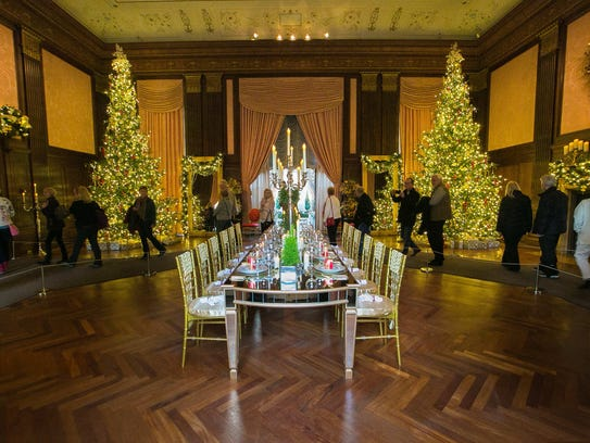Longwood staff members built the mirrored 12-foot dining