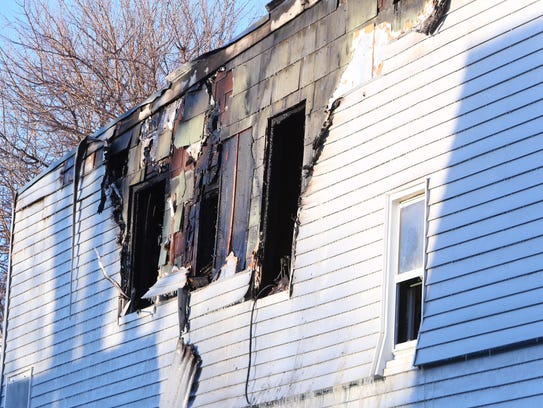 The aftermath of a fire at 10 Lewis St. in Yonkers,