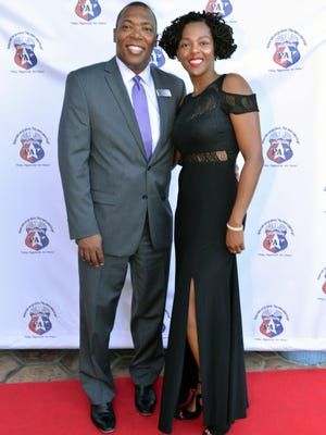 """Sponsor Coggin Honda of Ft. Pierce's General Manager Trent Shaw and Nina Hickman at the """"DRIVEN, the Ultimate Fashion & Automobile Extravaganza."""""""