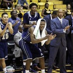 Jackson State players and head coach Wayne Brent, pictured against Southern Miss, earned the second win of their season on Friday night against Savannah State.