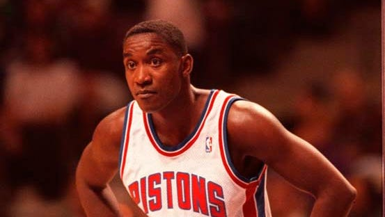 Isiah Thomas in 1994, during a break in the action against the Orlando Magic, which would be his last game as a Pistons player.