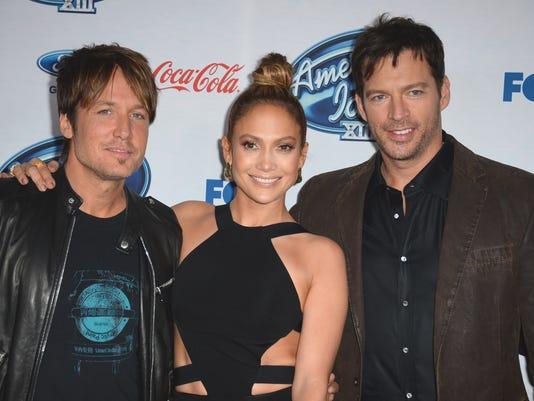 Keith Urban, Jennifer Lopez, Harry Connick Jr.