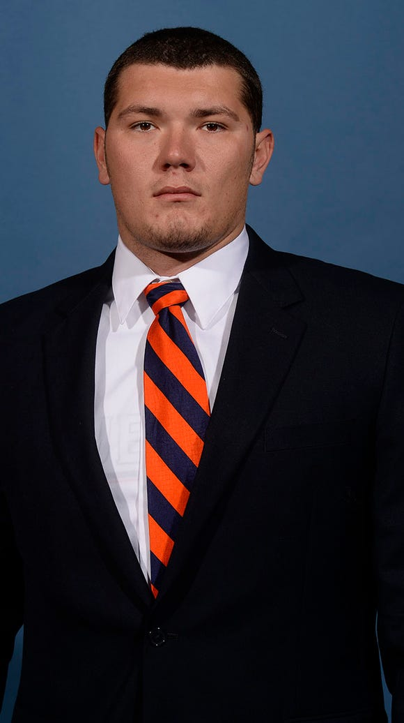 "Auburn long snapper Forrest Hill is ""day-to-day"" with"
