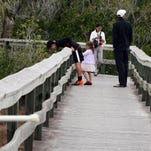 Nature walks are part of the free ranger-led activities offered at Everglades National Park's Gulf Coast Visitor Center.
