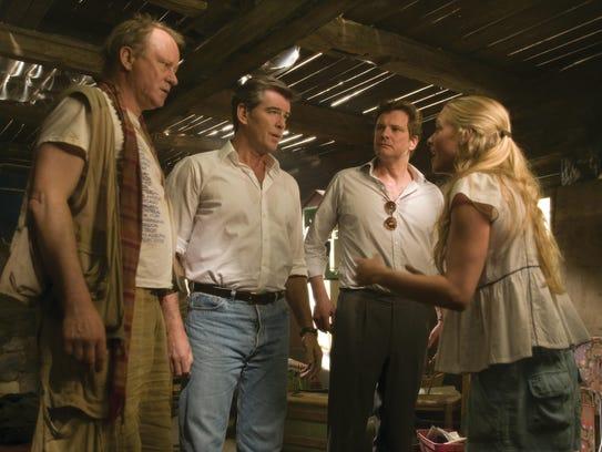 (l-R) Stellan Skarsgard, Pierce Brosnan, Colin Firth