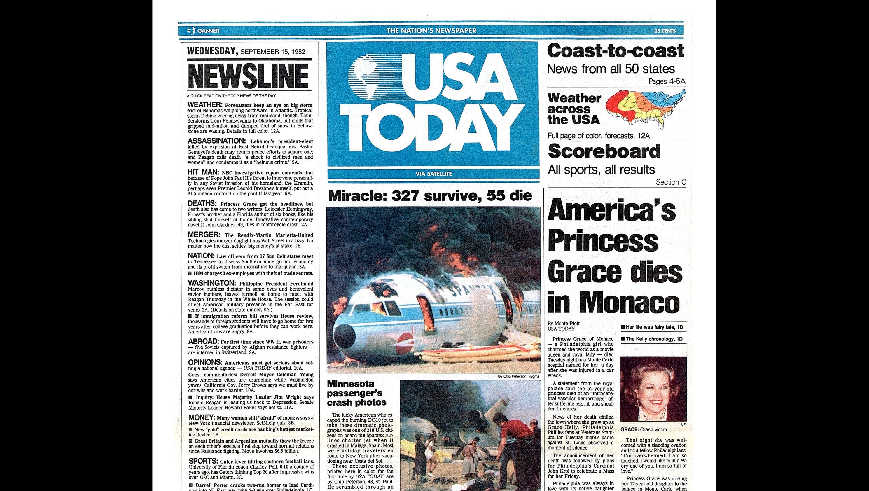 USA TODAY Newspaper Turns 35
