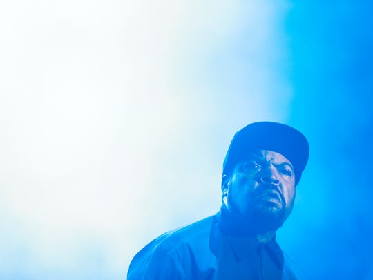 Ice Cube performs at the Bunbury Music Festival June 4, 2016. As a member of N.W.A., he helped popularize the baseball cap as a hip-hop standard. The longtime performer still wears one on concert stages and red carpets today.