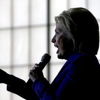 Democratic presidential candidate former Secretary of State Hillary Clinton speaks during a canvas kickoff event at the YWCA of Manchester on Feb. 5 in Manchester, New Hampshire.  With less than one week to go before the New Hampshire primaries, Hillary Clinton continues to campaign throughout the state.