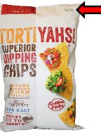 A picture of a bag of tortilla chips being recalled by Utz.