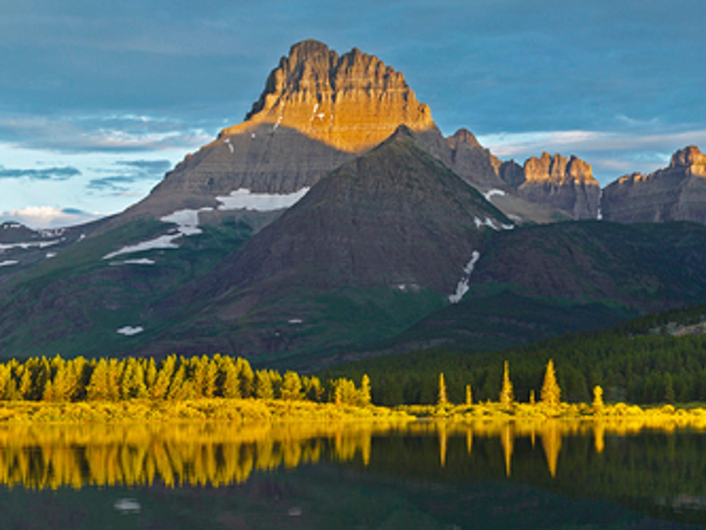 "Goebel's piece entitled ""Peaks of Gold."""