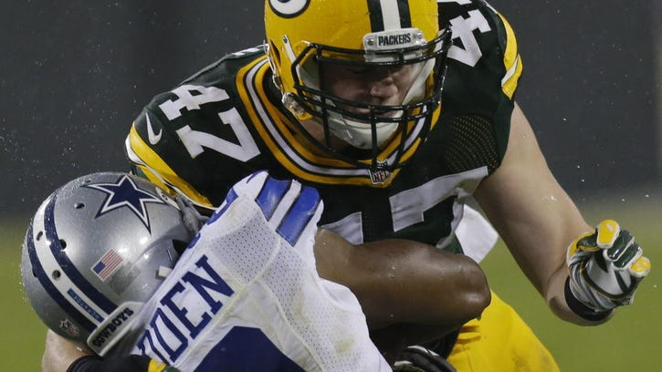 Packers linebacker Jake Ryan started seven games (including playoffs) in his rookie season, finishing with 47 total tackles. Ryan was a fourth-round draft pick.