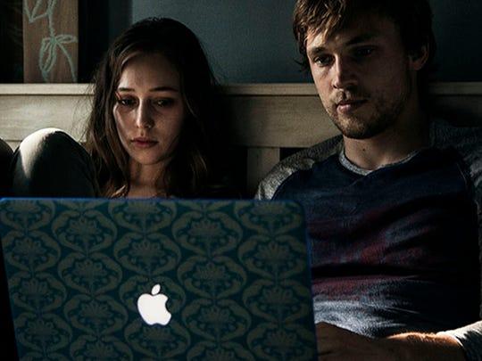 Alycia Debnam-Carey (left) and William Moseley discover