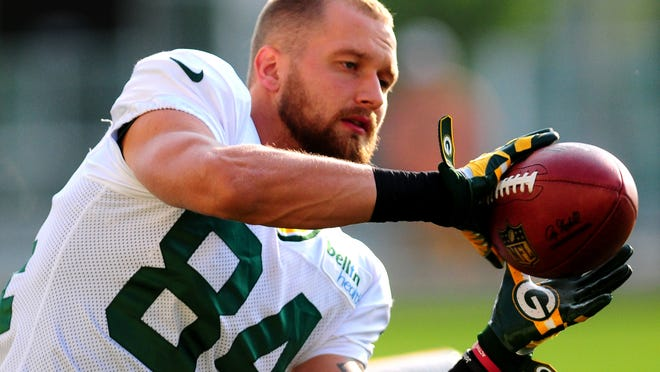 Jared Abbrederis says he is slightly ahead of schedule in rehabbing his torn ACL injury.